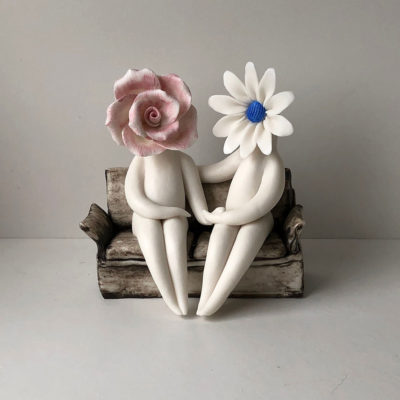 Ceramic Flower couple