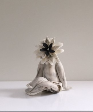 foxy lady parian clay sculpture