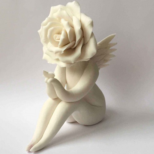 Angel Rose flower lady sculpture