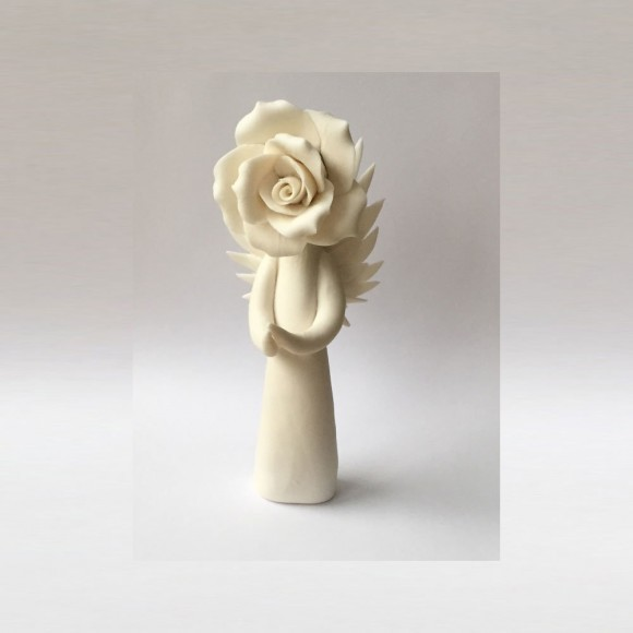 rose angel sculpture