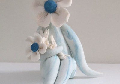 turquoise flower lady