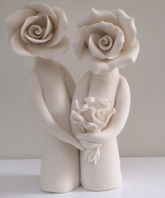 ceramic wedding cake topper