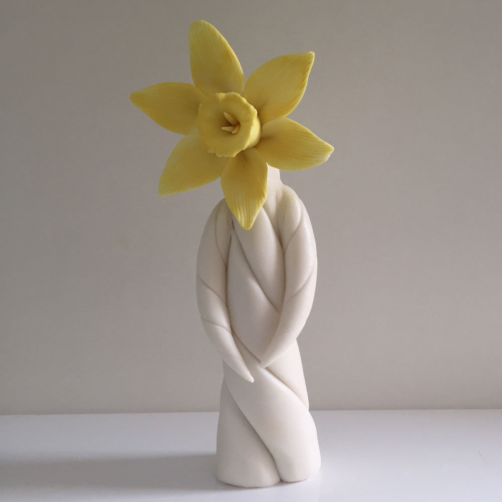 Ceramic Daffodil flower lady