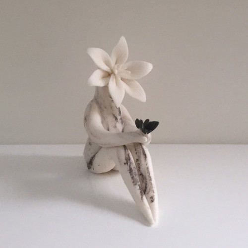 White Lily Butterfly May Birth Flower