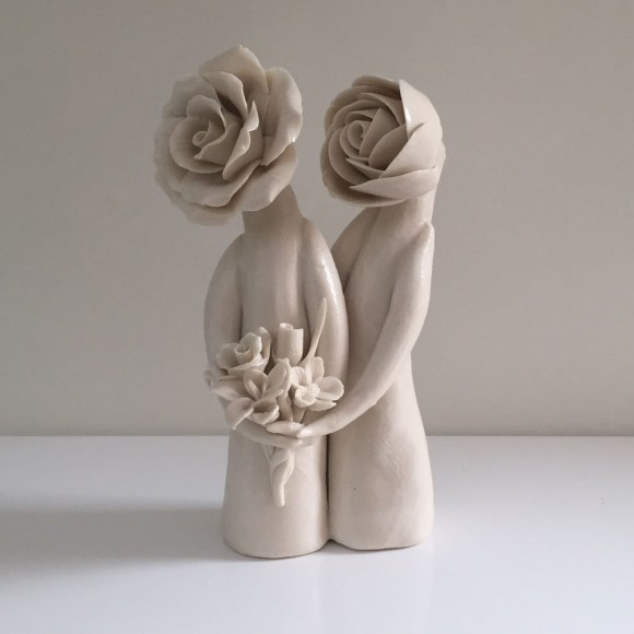 Glazed Married Couple Sculpture