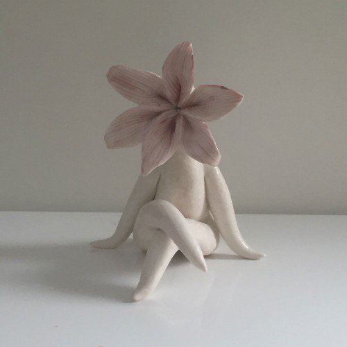 purple lily sculpture