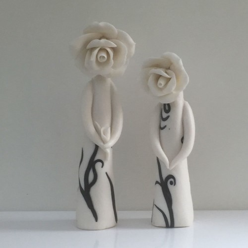 standing pair flower ladies