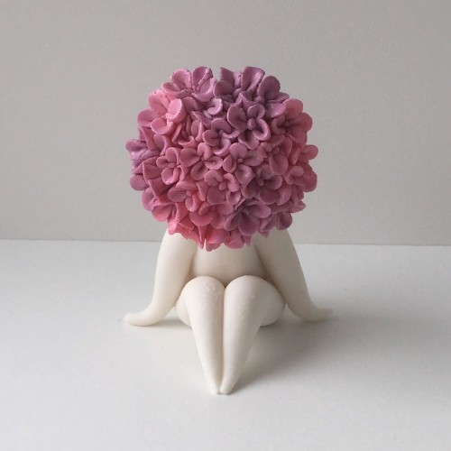 mini miss hydrangea flower sclulpture