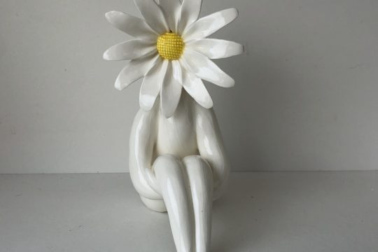 Daisy Lady Glazed Pottery