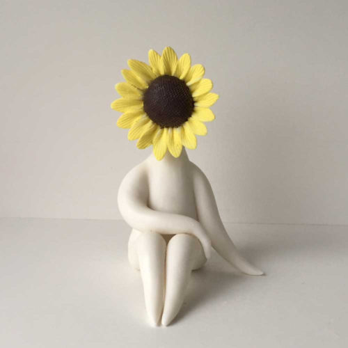 Lady Sunflower Sculpture