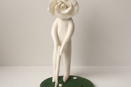 Standing Golfer Lady Rose