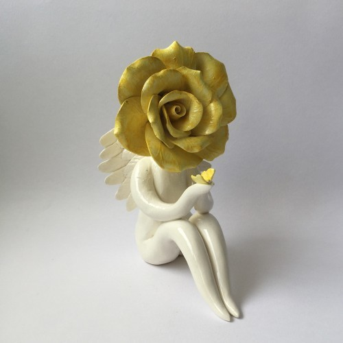 yellow rose angel