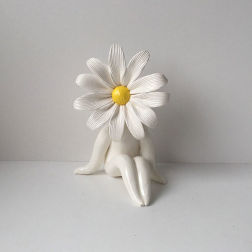 Little Miss Daisy Flower Sculpture