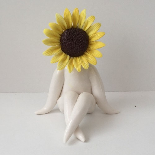 LittleMiss Sunflower Lady Sculpture