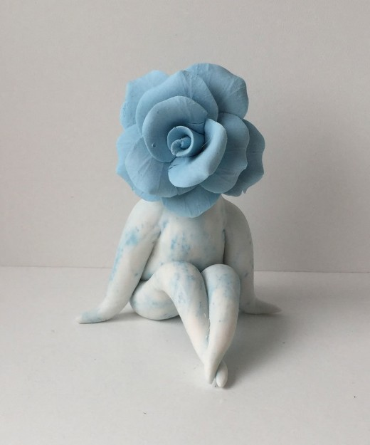 Miss Rose Flower Sculpture