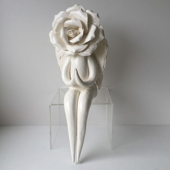White Angel Rose