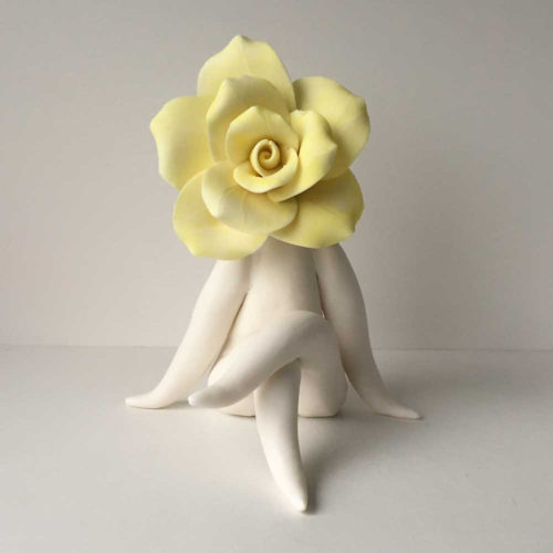 Elegant Lady Rose Sculpture