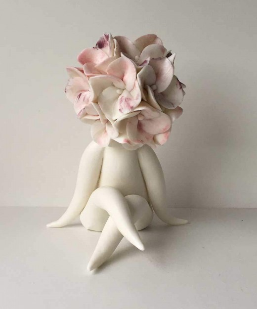 Heidi Flower sculpture
