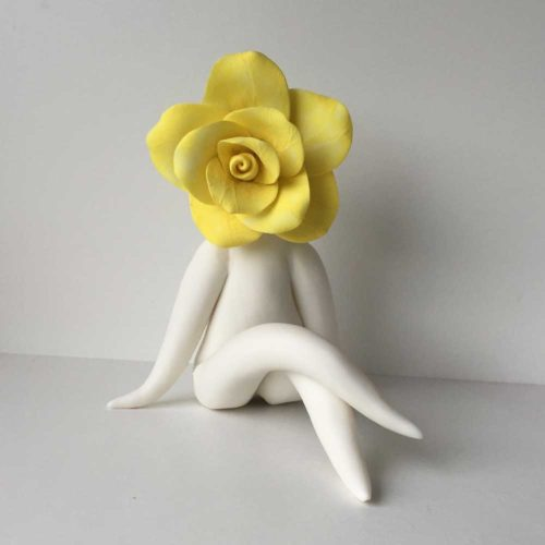 Yellow Rose Sculpture