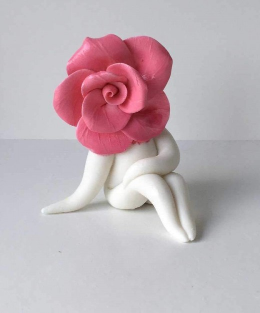 pink Rose Sculpture