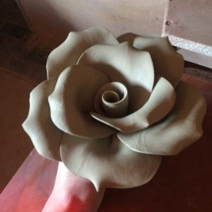 Large Clay Rose