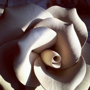 Large Clay Rose Closeup
