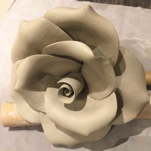 Really Large Clay Rose