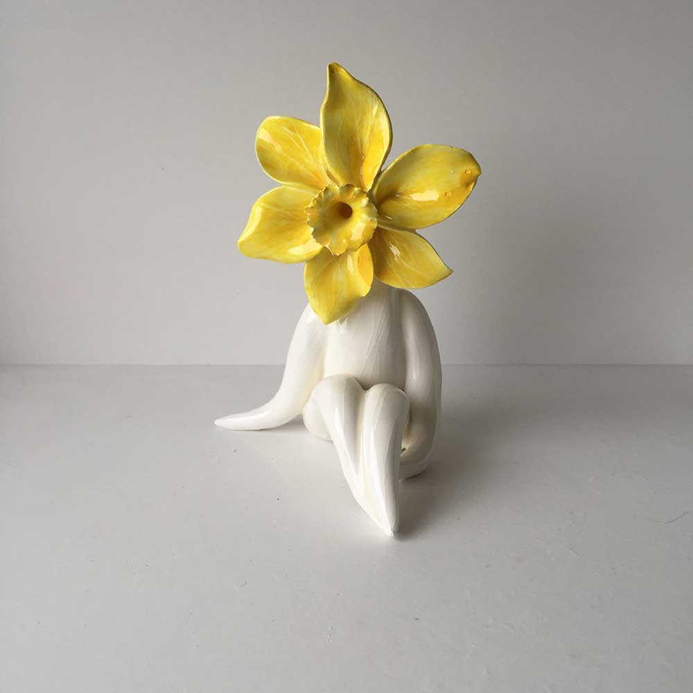 Mrs Glazed Daff Flower Sculpture