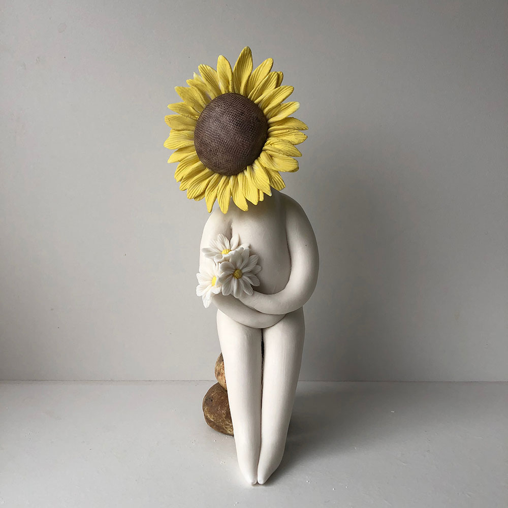 Sunflower figurine