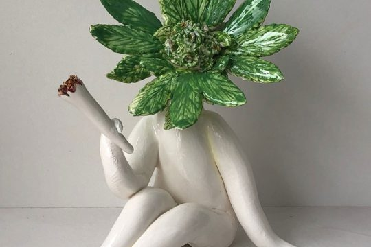 Glazed Pothead Sculpture