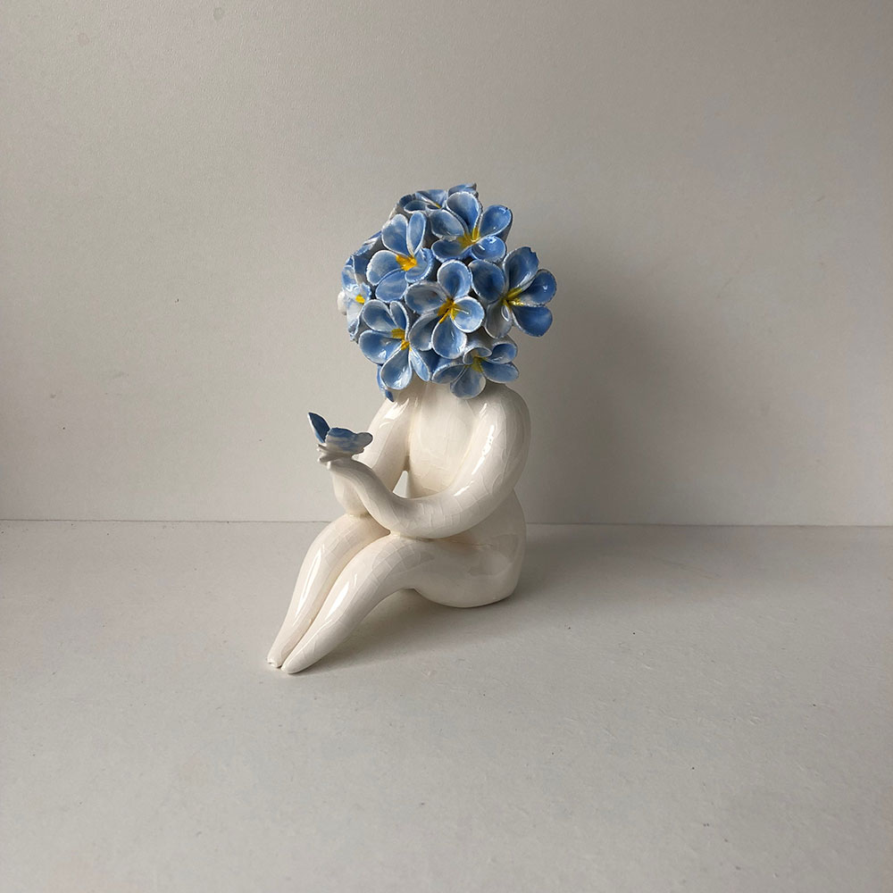 Miss Forget Me Not Sculpture