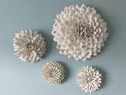 flower wall decor - handmade
