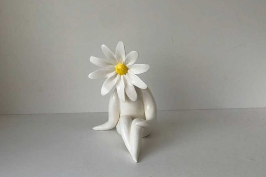 Small Daisy Lady Flower Sculpture