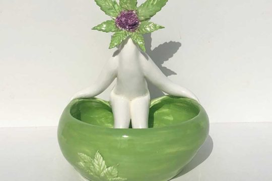 Pot Head Bowl - Gift for potheads