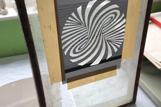 Screen Printing Optical Illusion Patterns On Clay