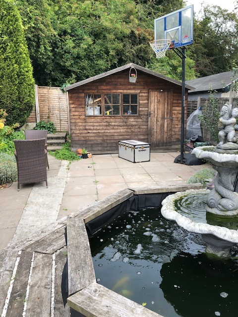Back Garden with old shed