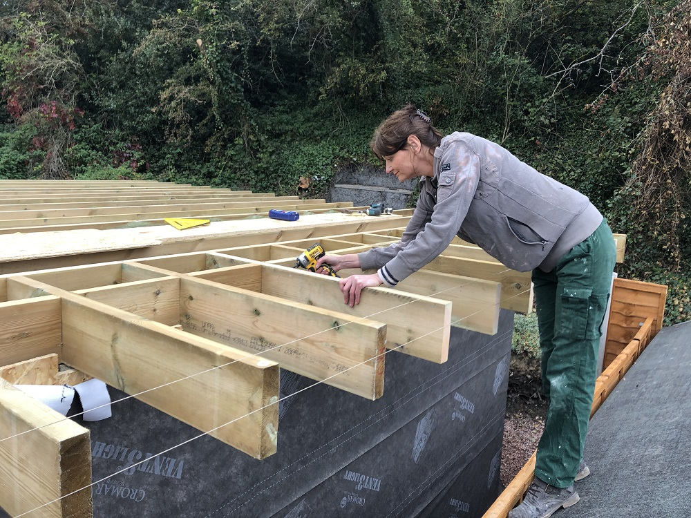Screwing Roof Joists